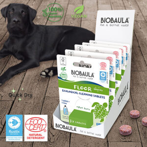 Ekologiškos grindų valymo tabletės Biobaula