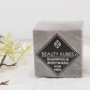 Kietasis šampūnas ir kūno prausimosi priemonė vyrams Beauty Kubes viename – natūrali priemonė vyrams Beauty Kubes