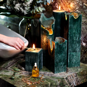 Natūralaus vaško žvakė House of Saku