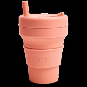 Sustumiamas daugkartinis puodelis su šiaudeliu Stojo